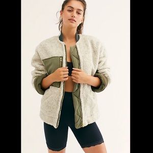 Free People Rivington Shearling Jacket XS